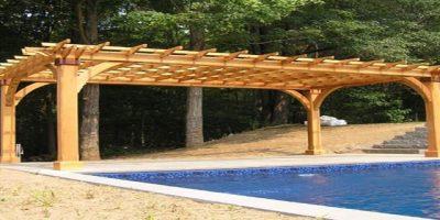 المظلات الخشبية