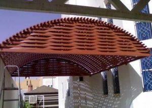 مظلات مداخل الفلل