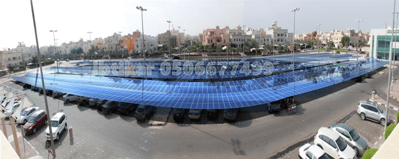 مظلات بالطاقة الشمسية