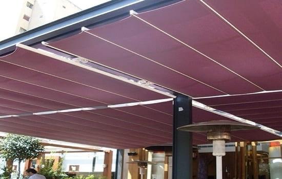 مظلات متحركة بالريموت للمطاعم