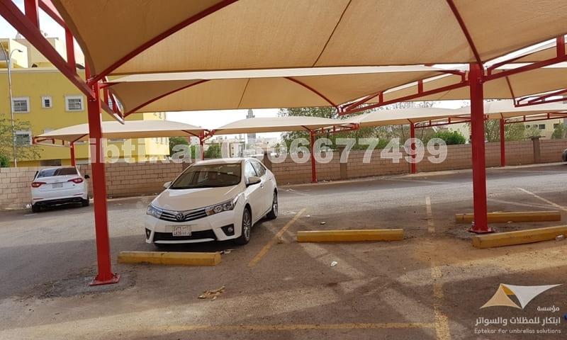 مشروع مظلات سيارات بنك ساب