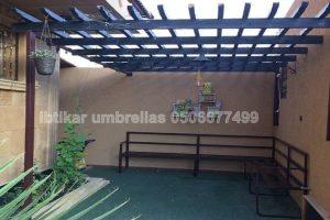تركيب مظلة حديقة حديد