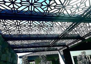 تصميم مظلة معدنية